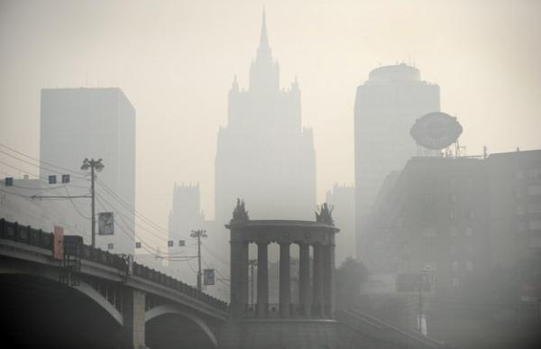 Moskwa w dymie/ AFP