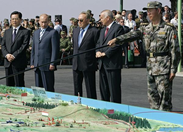 RUSSIA-SHANGHAI-MILITARY-EXERCISES